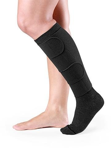 30-40 Mmhg Compreflex Lite Below Knee W/10-15 Mmhg Socks; Low Stretch; Lg Tall;Black SIGVARIS