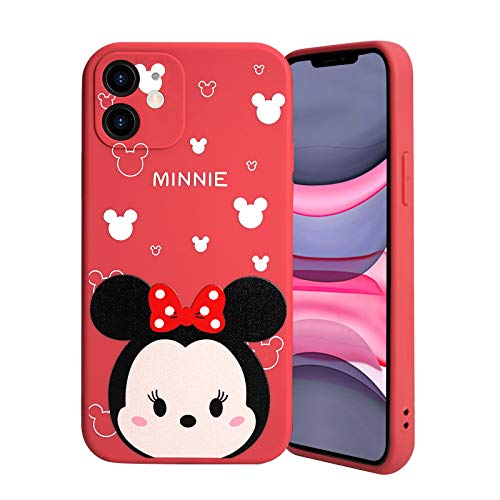 Donobi iPhone 11 Case 6.1 Inch, Dissney's Minnie Character iPhone 11 Case with Bumper Shockproof Scratch-Resistant Flexible Rubber Silicone Slim Protective Case Cover for iPhone 11