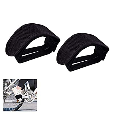 Jonsnowo Bicycle Pedal Strap,Pedal Toe Clips Straps Tape Bicycle Feet Strap for Fixed Gear Bike.