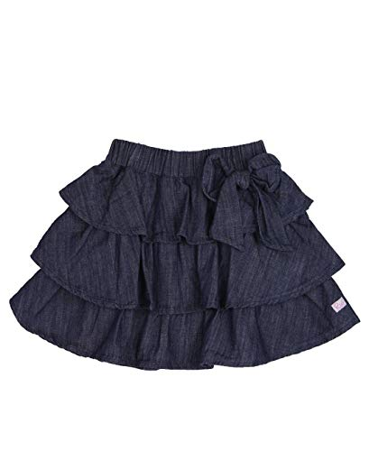 RuffleButts Baby/Toddler Girls Ruffled Denim Bow Skirt - 18-24m