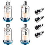 Qukpa Oil Water Separator Air Compressor Filter Accessories Small Pneumatic Spray Gun Regu...