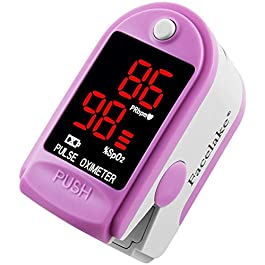 Facelake ® FL400P Pulse Oximeter with Carrying Case, Batteries, Neck/Wrist Cord – Pink