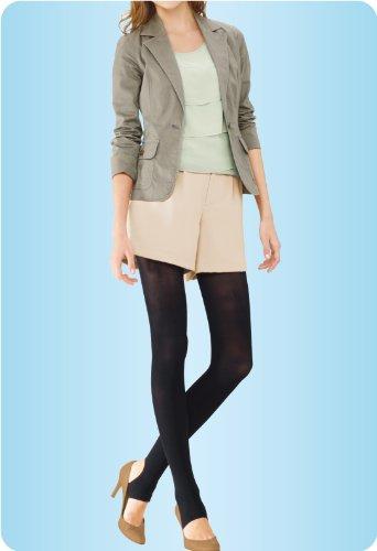 『スリムウォーク 美脚トレンカ S-Mサイズ ブラック(SLIM WALK,stirrup leggings,SM)』の4枚目の画像