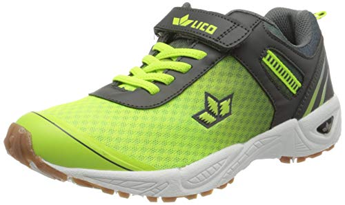 Lico BARNEY VS Jungen Multisport Indoor Schuhe, Lemon/ Grau, 35 EU