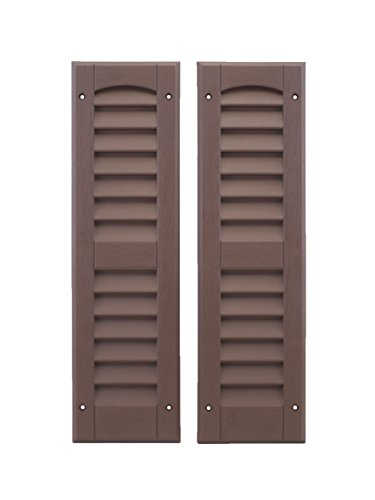 Louvered Shed Shutter or Playhouse Shutter, Brown 6' X 21', 1 Pair