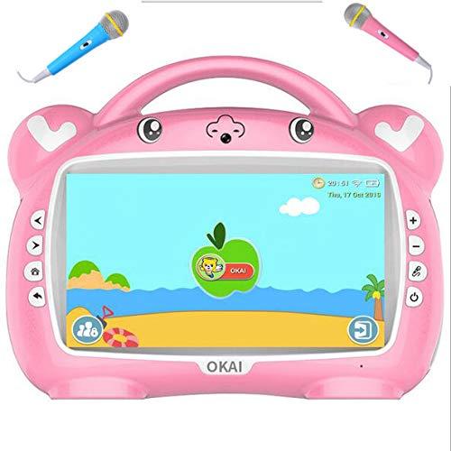 JINGBO Tableta de Juguete para niños, de 9 Pulgadas, IPS, Pantalla HD, Wi-Fi, QuadCore, Android 10.0 Pie, Certificado GMS,16 GB con Funda de Silicona portátil, Regalo de cumpleaños,Rosado
