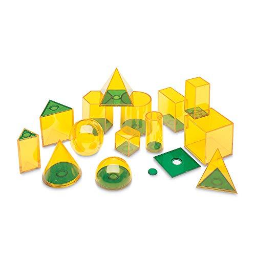 Learning Resources- Figuras relacionadas GeoSolids, recurso de matemáticas de Tres Dimensiones para Aprender Las Formas geométricas y el Volumen en el Aula, para niños de 8+ años de Edad (LSP0918-UK)
