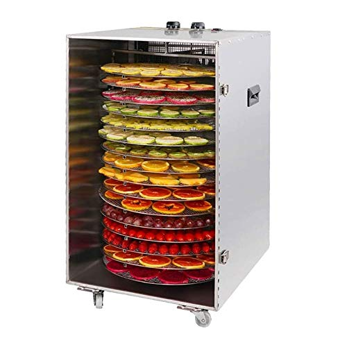 Lowest Price! QYDJD Food Dehydrator Machine – Large Commercial Grade 16-Layer Stainless Steel Tray...