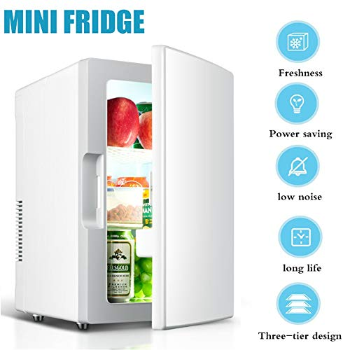 Mini Fridge, Portable 18L Compact Fridge With Cooling And Warming Function for Car And Home Small Refrigerator Car Refrigerator