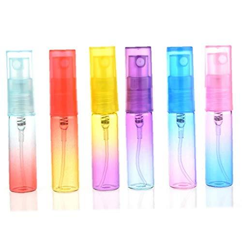 6pcs parfum en plastique Bouteilles Dégradé de couleur Vaporisateurs de parfum Set pour utilisation Voyage (4 ml - couleur aléatoire)