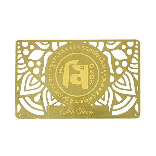 juanxian Feng-Shui-Amulett gegen Krankheiten, Goldkarte, W4269