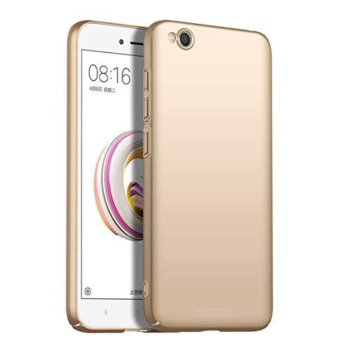 MISKQ Funda para Xiaomi Redmi Go,[Ultra Delgado] [Anti-caída] Ultra-Delgado Concha Dura Resistencia al Rayado Superficial Funda para telefono movil(Dorado)
