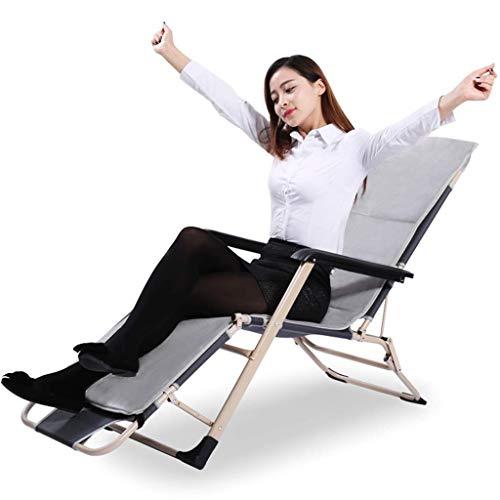 Olding Gravity Zonnestoel Dekstoel Rocking Recliner tuin bed Reclining stoel met armleuning - Ideaal of Patio Achtertuin Camping Picknick Beach Openlucht Ontspannen Comortable Seat zhihao