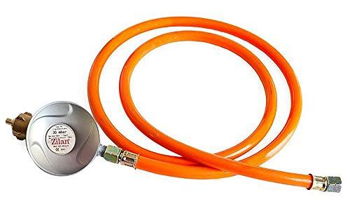150 cm Gasschlauch + 50 mbar Druckminderer | Gasregler | Propan | Butan |