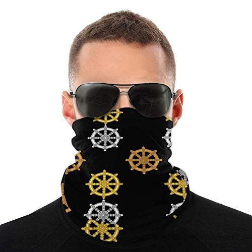 Nother Falun Budismo Ocho Ortodoxo Buda Budismo Headwear bufanda cortavientos máscara facial lavable antipolvo, pasamontañas cuello bandana doble impresión