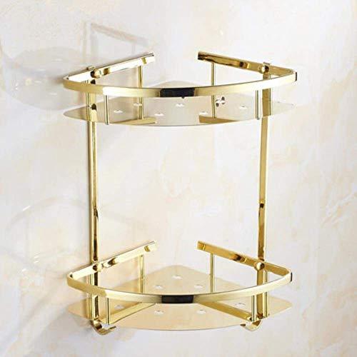 LXLH Shower Shelf,Bathroom Corner Shelf 304 Stainless Steel Wall Mount Bath Shelf Bath Shower Shelf Bath Shampoo Holder Corner Shelf Gold