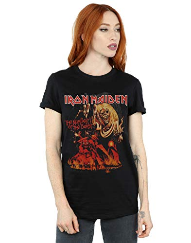 Absolute Cult Iron Maiden Mujer Number of The Beast Graphic Camiseta del...