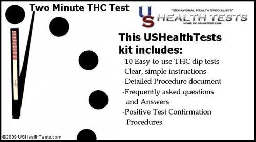Marijuana (THC) Dip-strip Urine Drug Test (10 pack included)
