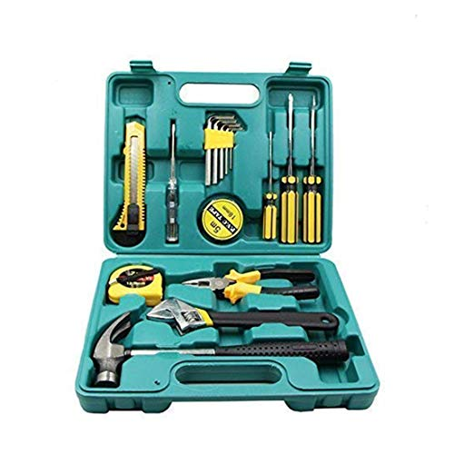 YUV'S Household Multipurpose Repair Hand Tool Kit With Plastic Toolbox Storage Case, Home Repair Set Tools, Bike & Car Repairing Tools (Tool Kit 16 Pieces)