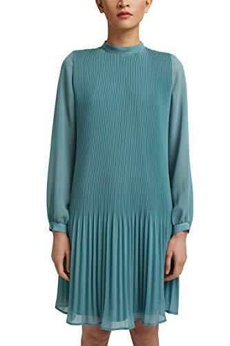 ESPRIT Collection Damen 031EO1E320 Kleid, 460/DARK Turquoise, 38
