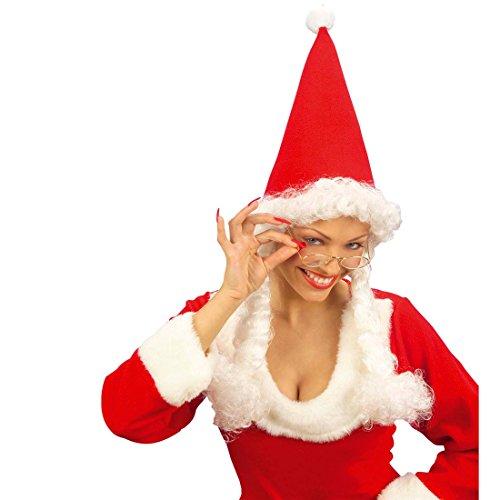 Goldene Brille oval Opa Faschingsbrille Weihnachtsmann Karnevalsbrille Damenbrille und Herrenbrille Weihnachten Fasching Brillenmodell Opa Weihnachtsmann Wichtel Zwerg Mottoparty Brillen Accessoires Karneval Kostüm Zubehör