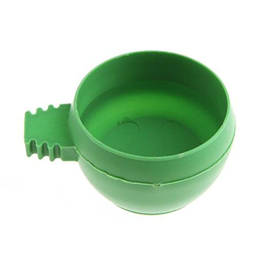 bobeini Mini alimentador de Agua para Loros, alimentador de plástico para Palomas, Jaula para pájaros, Taza de Arena, alimentación Verde