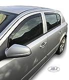 J&J Automotive - Deflectores de viento para Opel Astra III H 5 puertas 2007-2014, 4 unidades