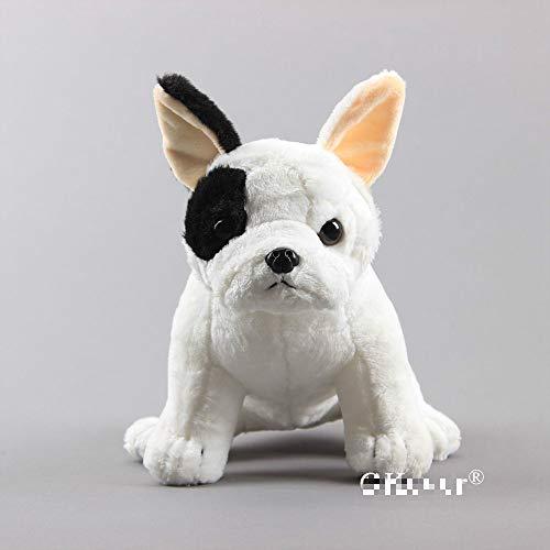 nobrand Simulation Puppen Französisch Bulldogge Plüschtier Real-Life Squatting Dog Kuscheltiere Geschenk 28CM A