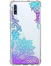 Suhctup Funda Compatible con Samsung Galaxy Note 10 Pro Carcasa Transparente,Dibujo Diseño Flor [Protección Caídas] Ultra-Delgado Flexible Silicona TPU Estuche Cover para Galaxy Note 10 Pro,Mandala 8