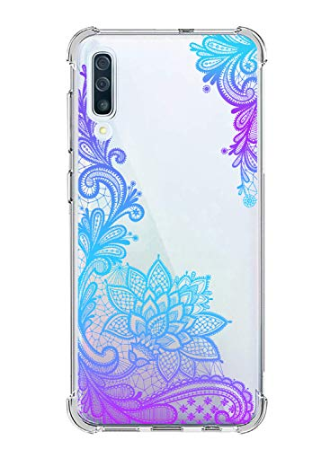 Suhctup Coque Comaptible avec Galaxy A9 Star Lite Étui Houssee,Transparent Motif Fleur [Antichoc Protection des Coins] Crystal Souple Silicone TPU Bumper Case Cover pour Galaxy A6 Plus,A8