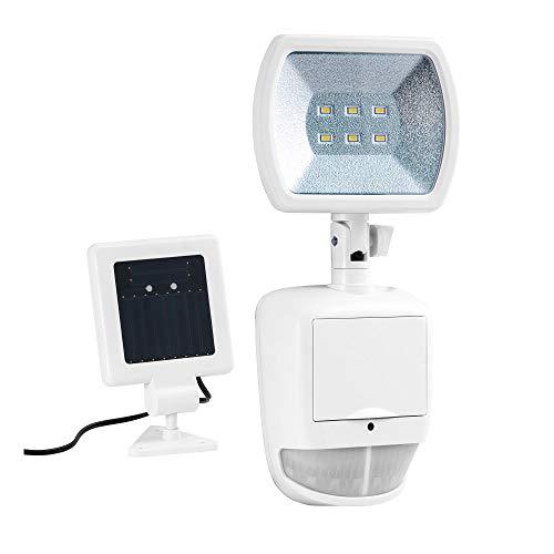Duracell SL001DU Lampe Solaire 6 LED avec détecteur de Mouvement, Blanc