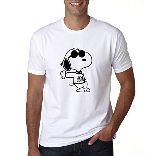 T-Shirt da Uomo & Donna con Stampa Snoopy | Maglietta alla Moda con Fumetto con Stampa Snoopy | Maglia con Logo (XS) Idea Regalo