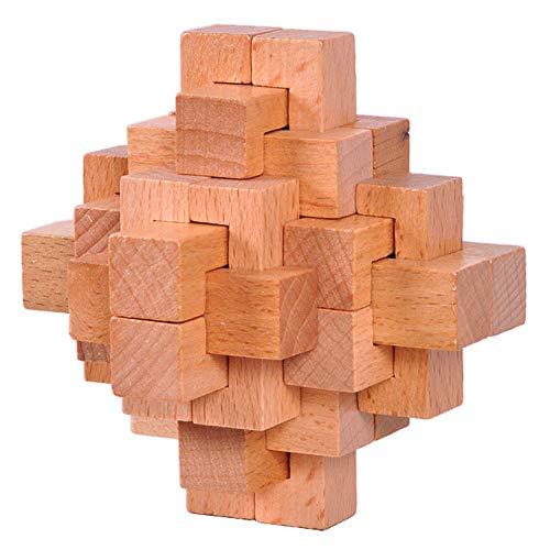 Rompecabezas de Madera clásica Mind Enigmas entrelazados Burr Puzzles Juego Juguetes para Adultos Niños