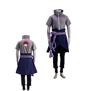 Anime Naru_to Shippuden Costume Madras Uchiha Cosplay Full Set Japanese Anime Sasu_ke Halloween Costume for Men