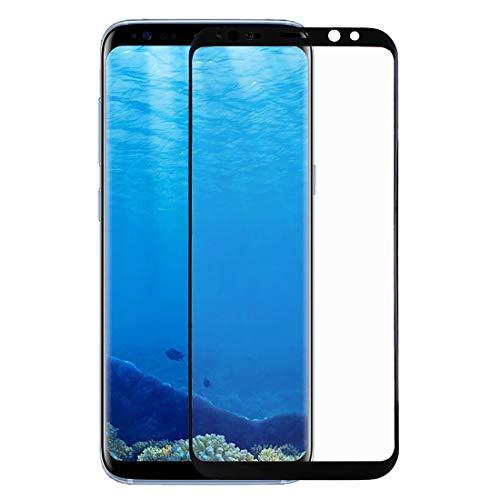 Zhangl Protector de Pantalla de teléfono móvil para Samsung Galaxy S8 / G9550 Pet Curvo Protector de Pantalla de Doblez de Calor Protector de Pantalla (Color : Black)