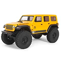 100% assembled and ready to run, the compact SCX24 1/24 scale radio control off-road RC truck with water-resistant electronics is perfect for outdoor or indoor RC adventure Features scale details like working LED lights and officially licensed KMC XD...