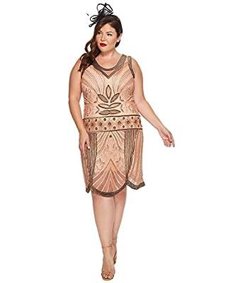 Unique Vintage Womens Plus Size Caspian Flapper Dress