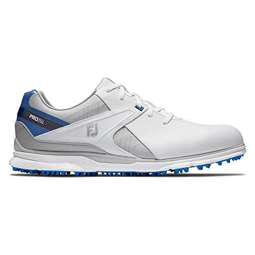Footjoy Pro SL, Chaussure de Golf Homme, Blanco/Gris/Azul,...