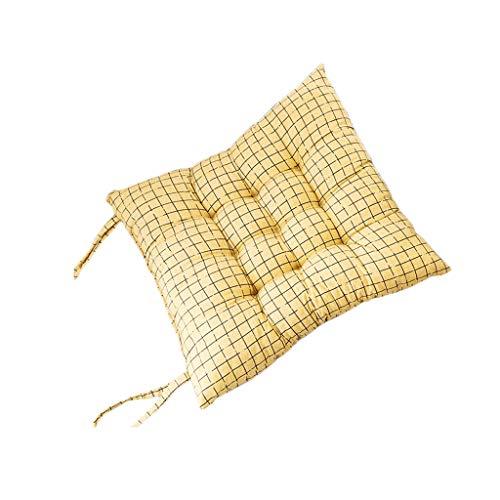NIL Gitter Eindickung Sitzkissen Sitzkissen for Esszimmer Stühle Büro Studenten Hocker Ass Kissen (Color : Yellow)