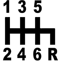 車のステッカーの装飾 13.7X15.1CM 6速マニュアルカーウィンドウステッカーブラック/シルバービニールデカールカースタイリング (Color Name : Black)