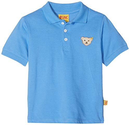 Steiff Steiff Baby-Jungen 1/4 Arm Poloshirt, Blau (Marina|Blue 3056), 80