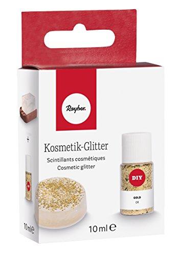 Rayher 39568616 Kosmetik-Glitter, gold, Flasche 10 ml