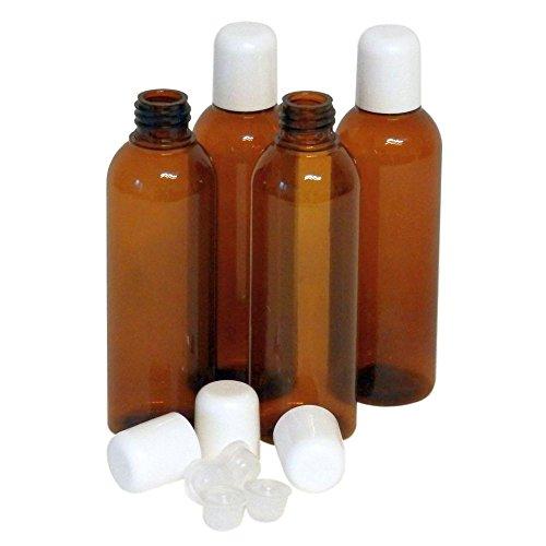 PET Leerflaschen 100ml mit Tropfeinsatz, Spritzeinsatz, Top Qualitäts-Flasche (10 Stück)