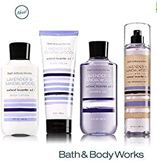 Bath & Body Works LAVENDER & SANDALWOOD Deluxe Gift Set Lotion ~ Cream ~ Fragrance Mist ~ Shower Gel