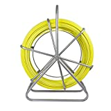ECO-WORTHY Fish Tape Fiberglass 6MM 425FT Reel Wire Cable Running Rod Duct Rodder Fishtape Puller