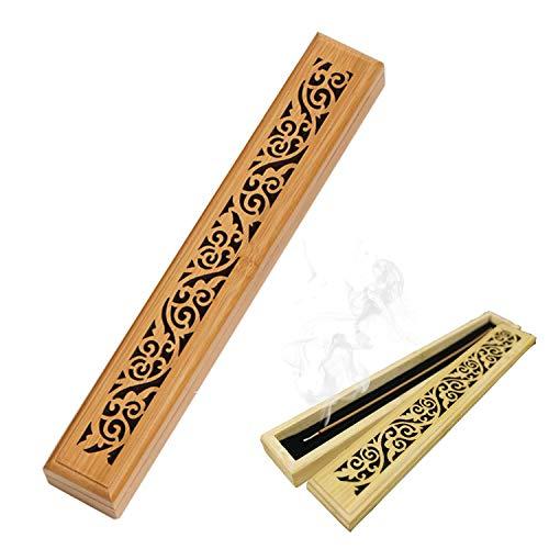 Incense Holder, Grace Incense Burner Bamboo, Upgraded Incense Stick Holder, Premium Incense Box...