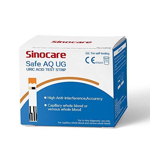 50 strisce reattive per acido urico per misuratore bifunzionale di glicemia e acido urico Safe AQ UG