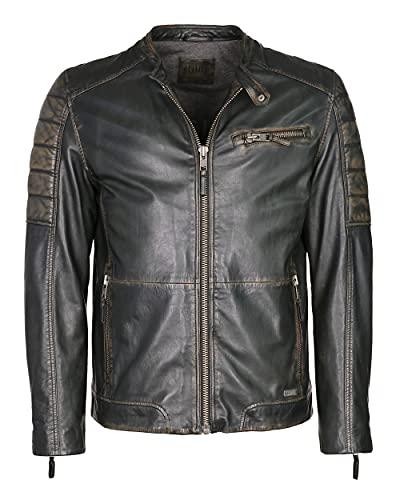 MUSTANG Herren Lederjacke Mit Zierbrusttasche 31020248 Vintage Brown 3XL