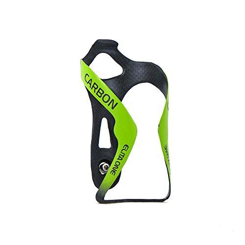 QIKU Portabidones de Carbono para Bicicleta 3k (Verde Mate)