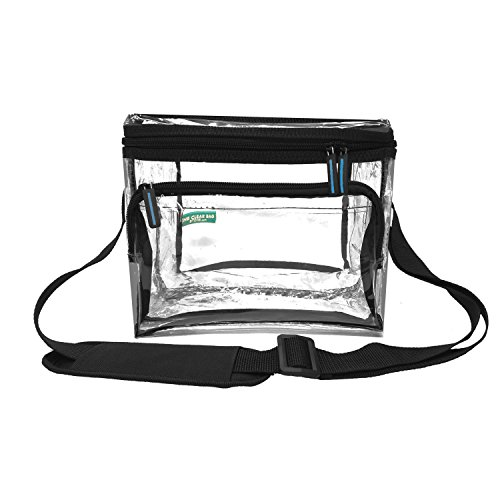 Clear Lunch Bag Medium Black Trim